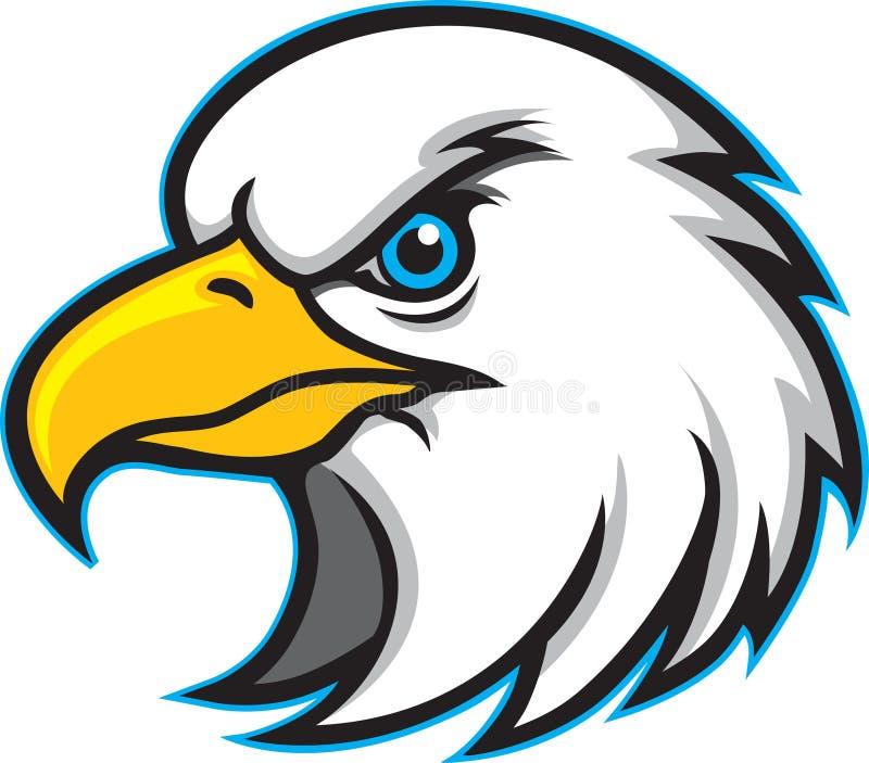 老鹰顶头徽标吉祥人 向量例证