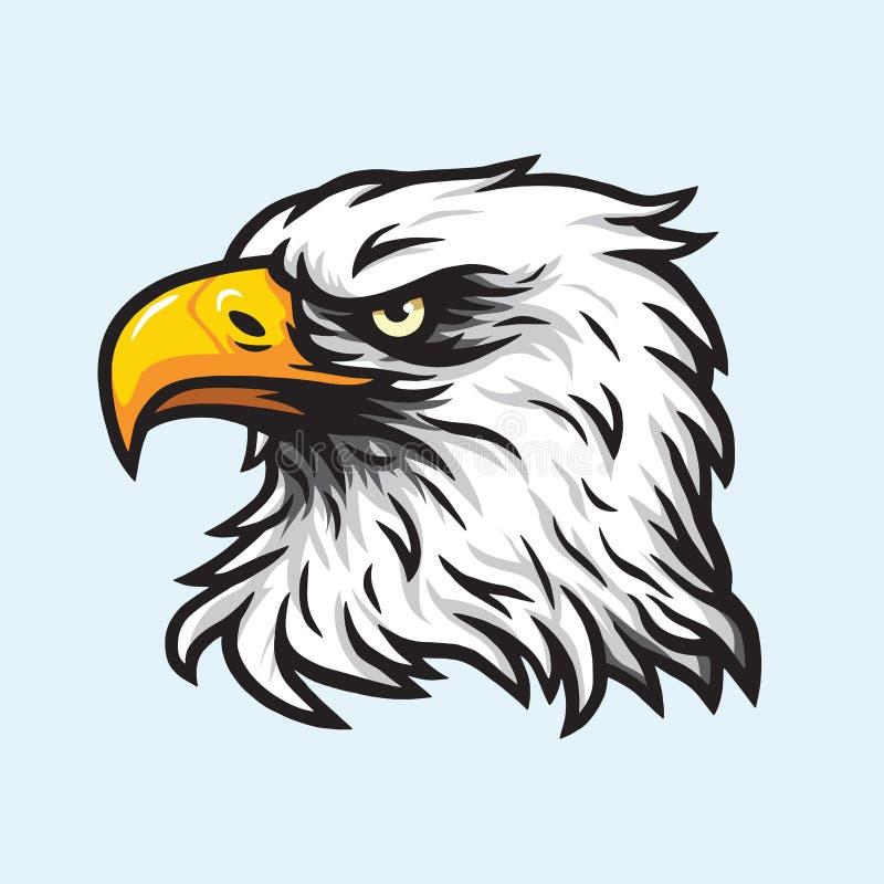 老鹰顶头吉祥人传染媒介商标 向量例证