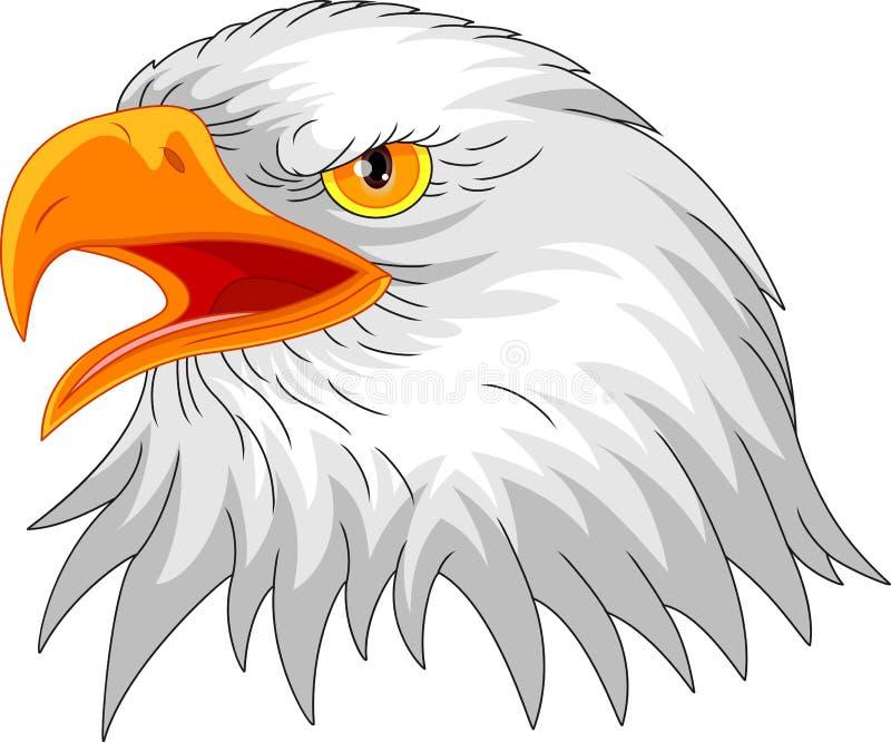 老鹰顶头吉祥人 向量例证
