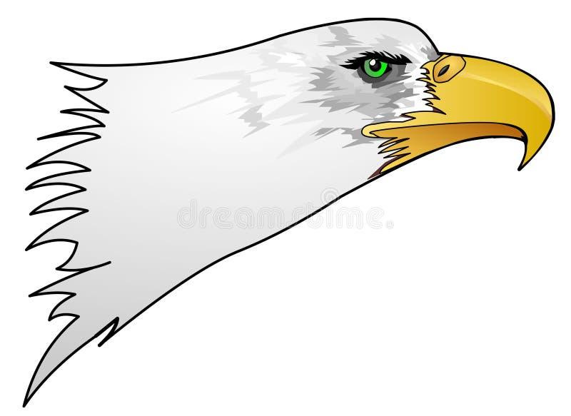 老鹰题头 向量例证