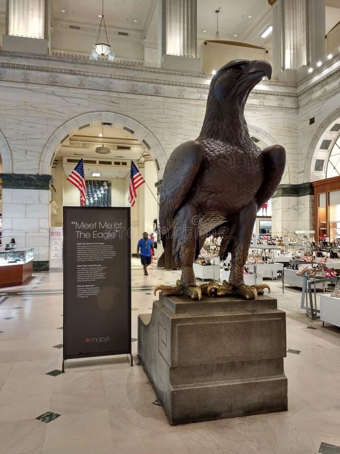 老鹰,盛大法院,费城,宾夕法尼亚,美国 图库摄影