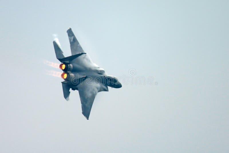 老鹰f15喷气式歼击机 免版税图库摄影