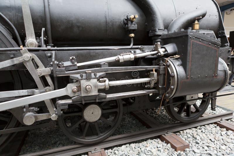 老黑机车的轮子 库存图片
