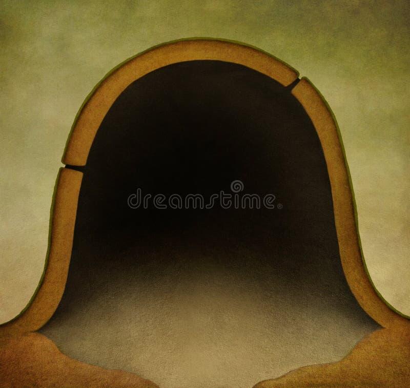 老鼠孔背景 皇族释放例证