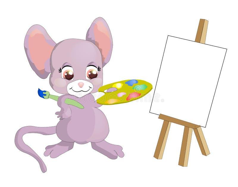 老鼠画家 向量例证