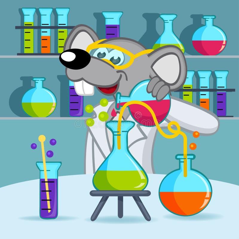 老鼠科学家 皇族释放例证