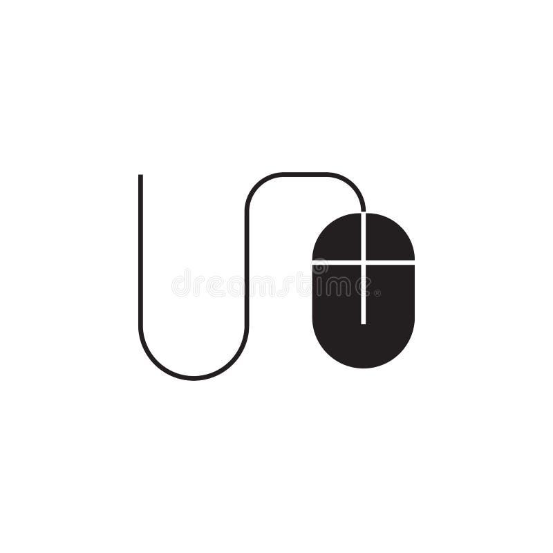 老鼠,计算机象 标志和标志象可以为网,商标,流动应用程序,UI,UX使用 库存例证