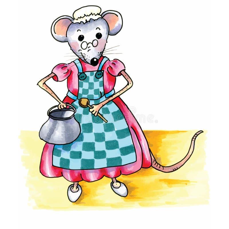 老鼠-祖母 皇族释放例证