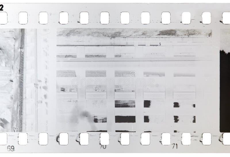 老,使用和坏小条开发了赛璐珞卷 图库摄影