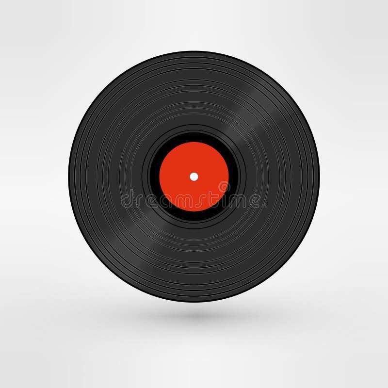 老,减速火箭的黑色纪录, LP, eps10传染媒介艺术 向量例证