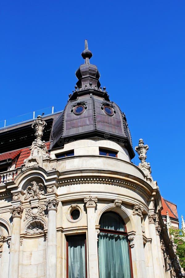 老,历史建筑学在弗罗茨瓦夫,市中心,老镇 库存照片