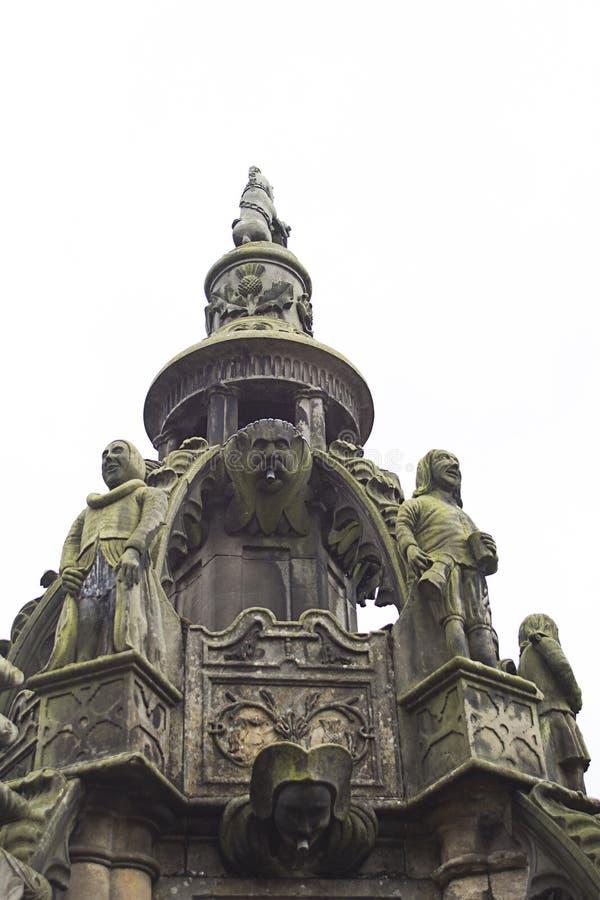 老,历史建筑学在Linlithgow在苏格兰 免版税图库摄影