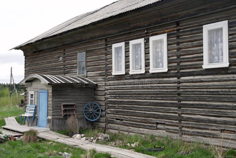 老,大,木房子 库存图片