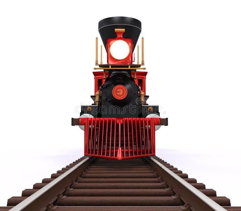 老活动火车 库存照片