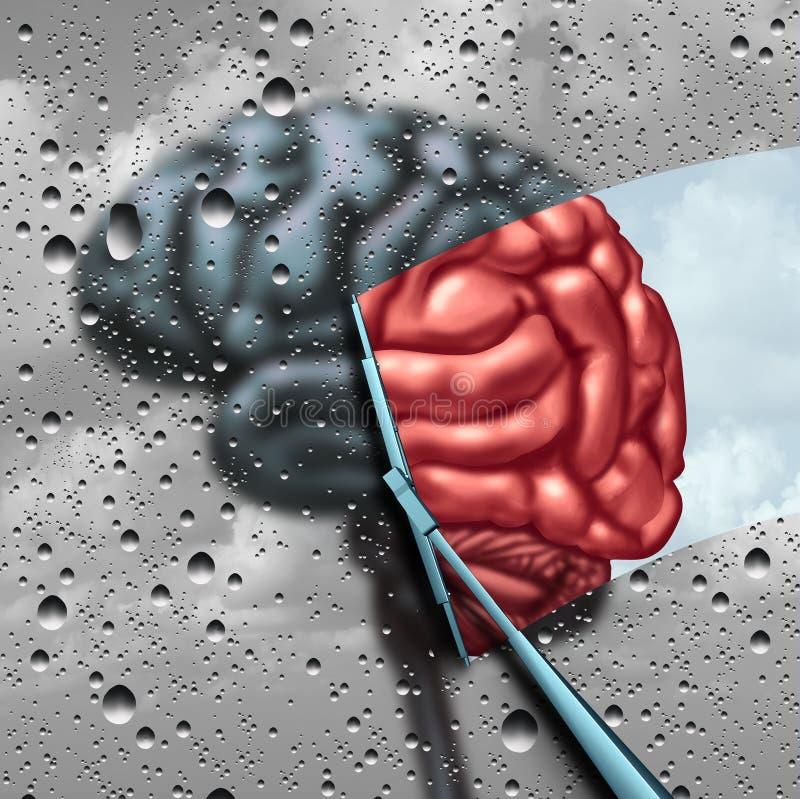 老年痴呆和脑疾病疗法 皇族释放例证