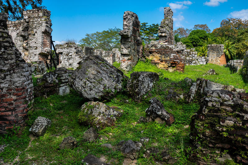 老巴拿马城废墟,巴拿马 库存图片