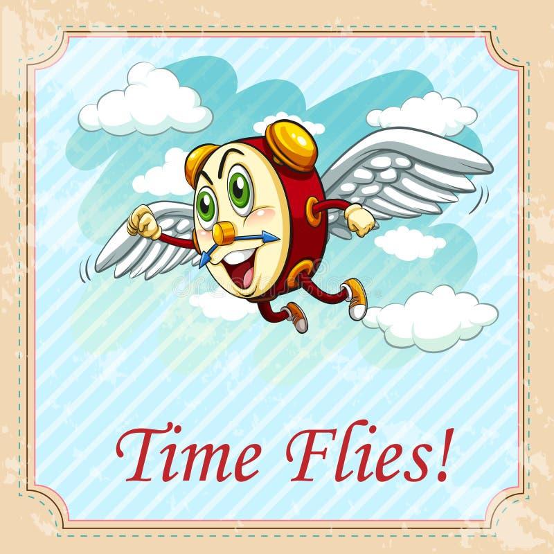 Download 老说法时间飞行 向量例证. 插画 包括有 表示, 时间, 艺术, 夹子, 动画片, 字词, 说法, 飞行 - 59108283