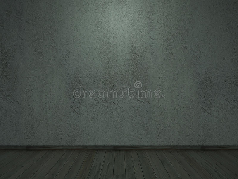 老水泥墙壁裂缝darklight内部万圣夜 免版税图库摄影