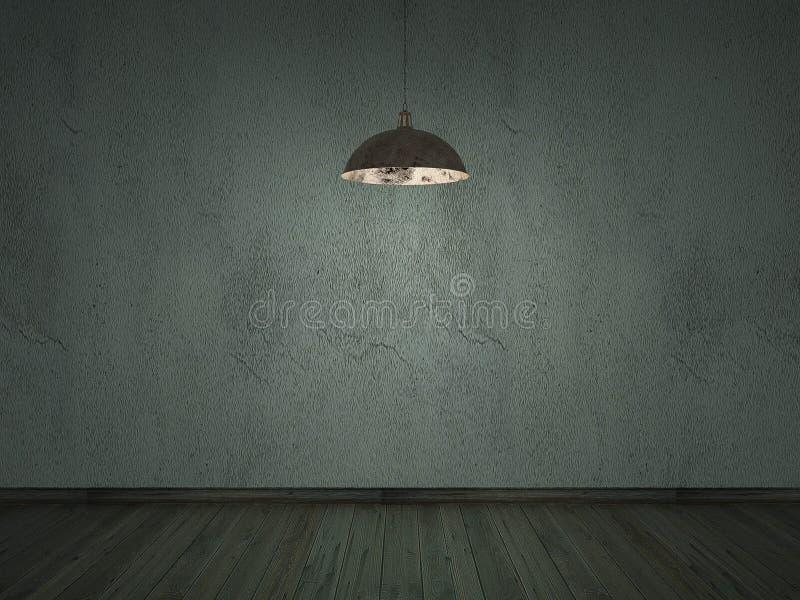 老水泥裂缝墙壁darklight内部背景 库存照片