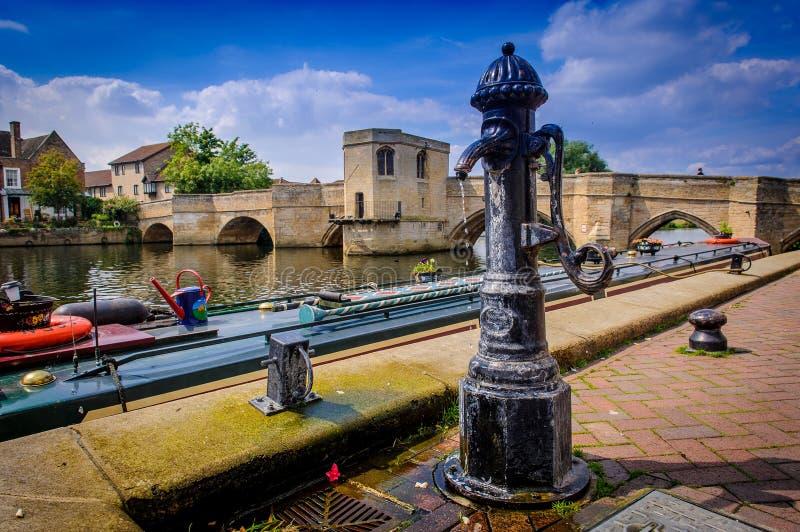 老水泵, St Ives, cambridgshire 3 免版税库存照片