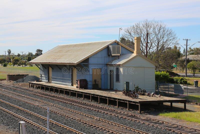 老货物火车站 库存照片