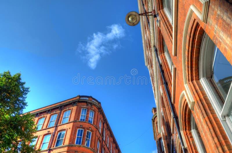 老建筑学在诺丁汉,英国 免版税库存照片