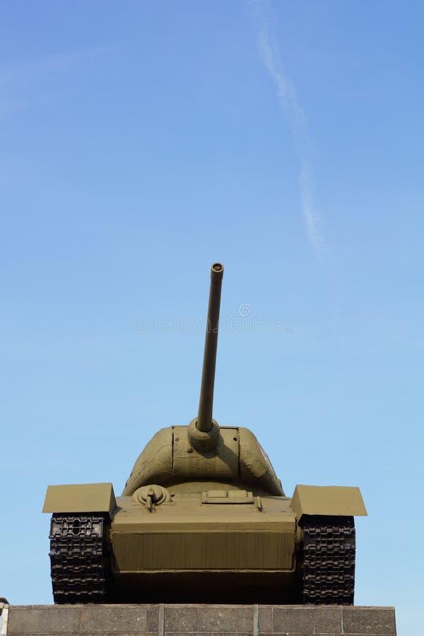 老绿色坦克 库存图片