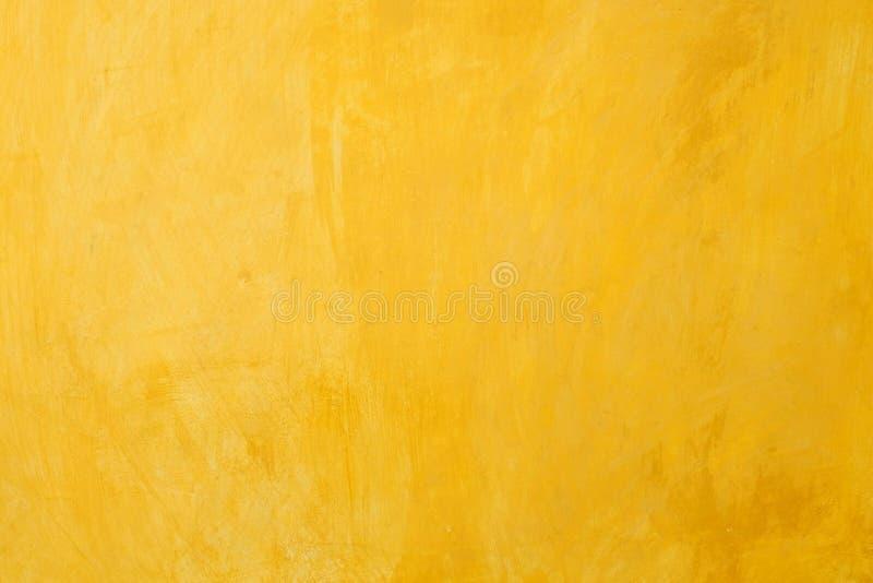 老黄色墙壁背景 免版税库存图片