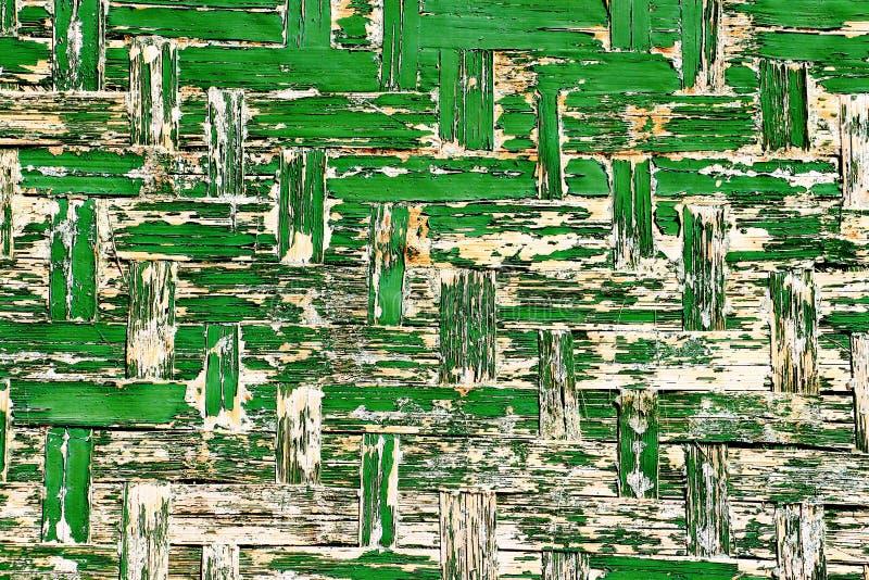 老绿色木墙壁背景 免版税库存照片
