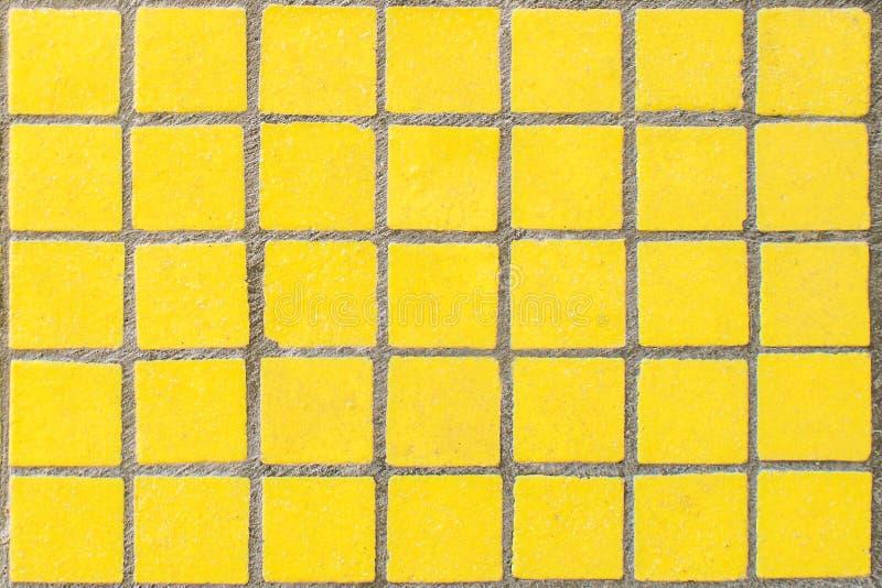 老黄色肮脏的马赛克 免版税库存图片