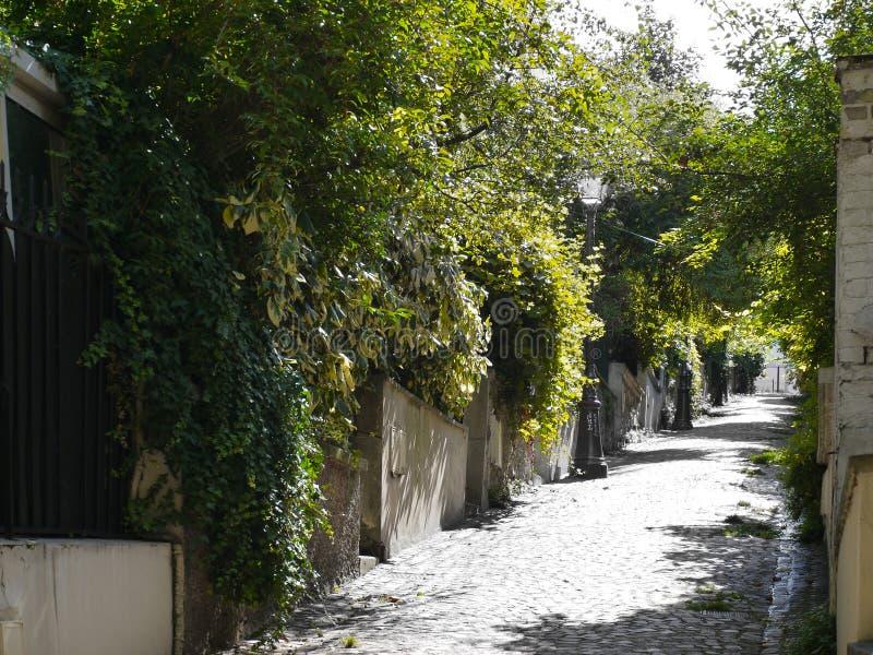 老巴黎街道 图库摄影