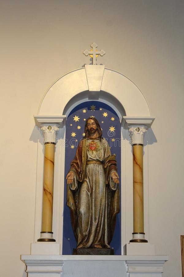 老Adobe使命,我们的永久帮助天主教,斯科茨代尔,亚利桑那,美国的夫人 免版税库存图片