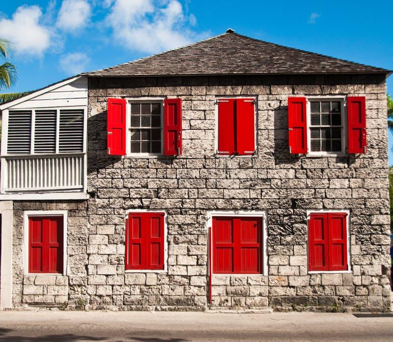 老bahama房子 免版税库存图片