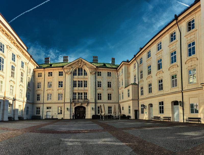 老Hofburg城堡在因斯布鲁克 库存照片