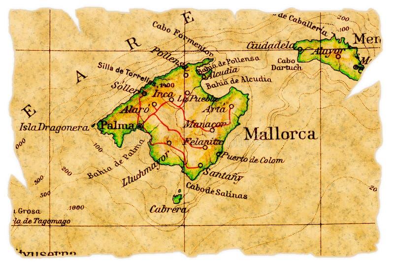 老mallorca映射 库存照片