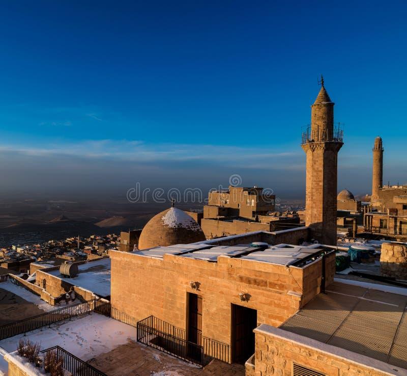 老Mardin市 库存照片