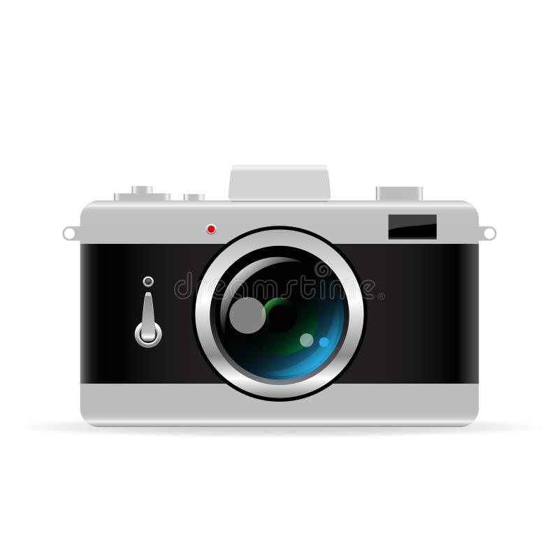 老photocamera向量 向量例证