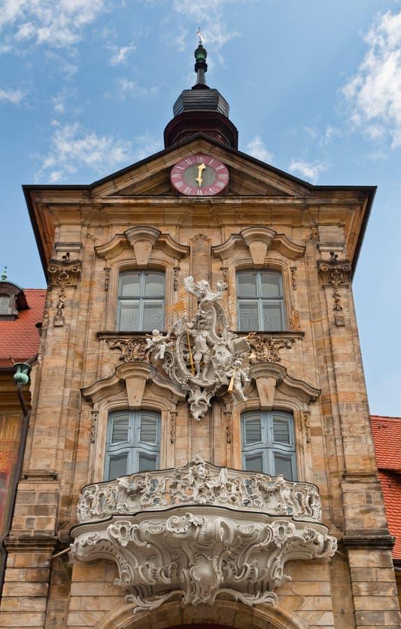 老Rathaus塔,琥珀 库存照片