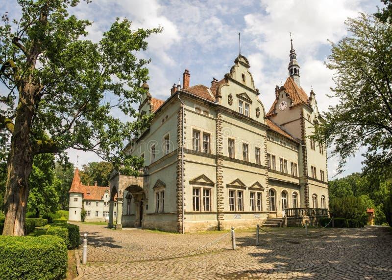 老Schonborn城堡在Chenadievo 免版税库存照片