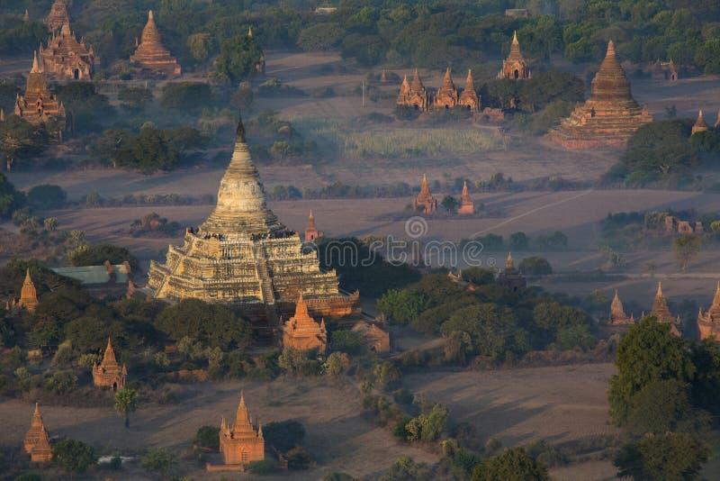 考古学区域- Bagan -缅甸 库存图片