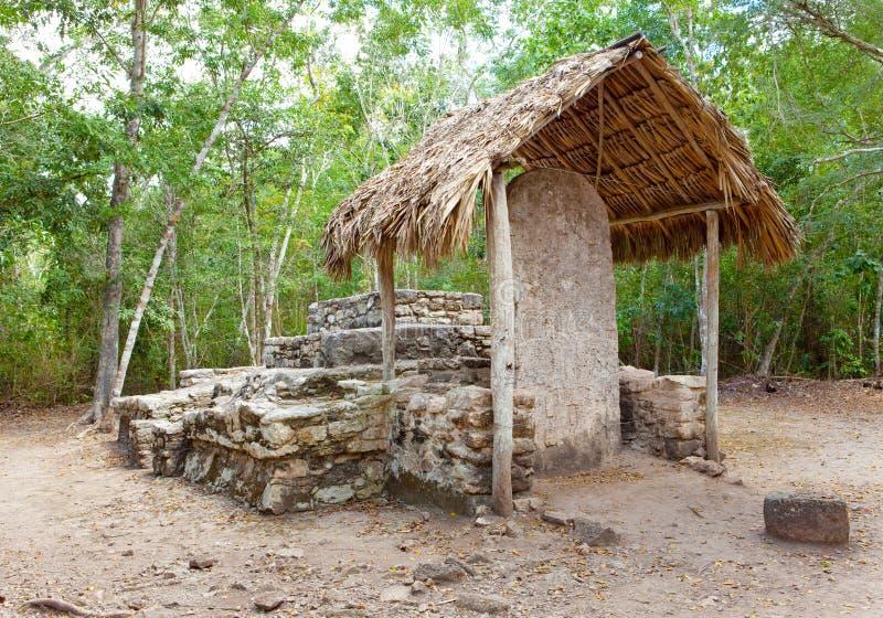 考古学区域Kabah.Mexico。 库存图片