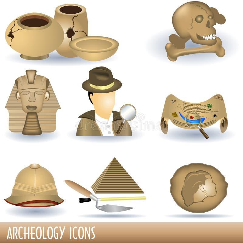 考古学图标 向量例证