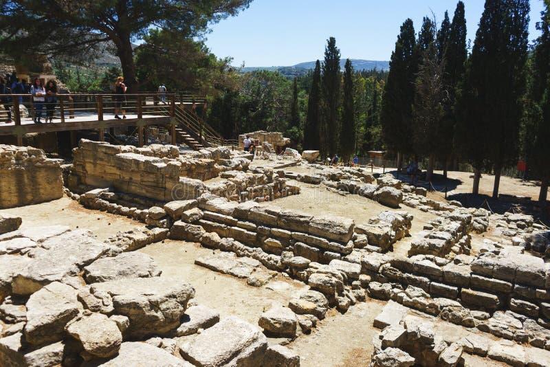 考古学地标-在克利特,希腊, 2018年4月海岛上的Knossos宫殿  库存图片