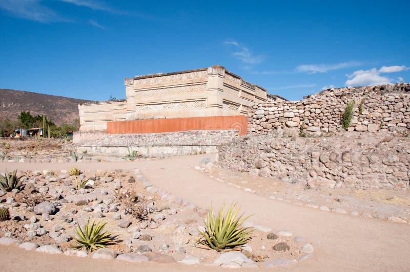 考古学墨西哥mitla oaxaca站点 库存照片