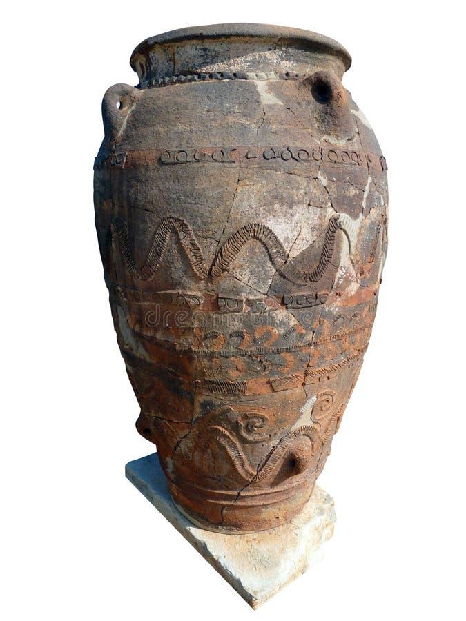 考古学希腊油罐 库存图片