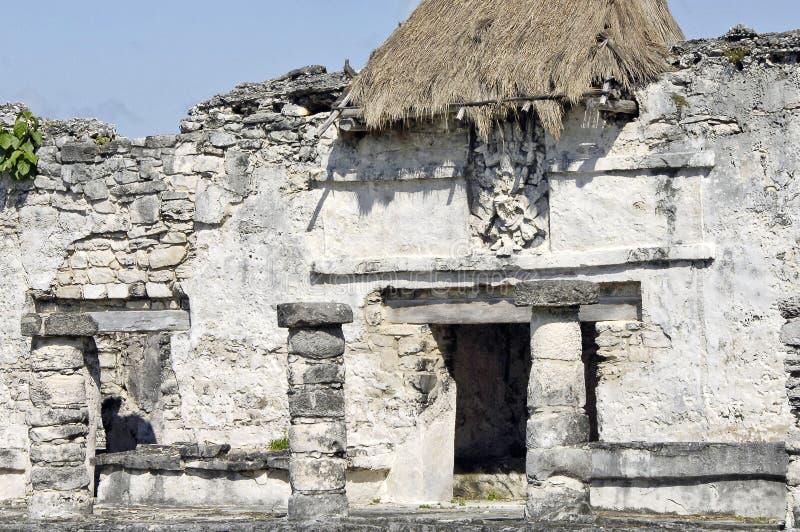 考古学废墟,修造由玛雅人 库存照片