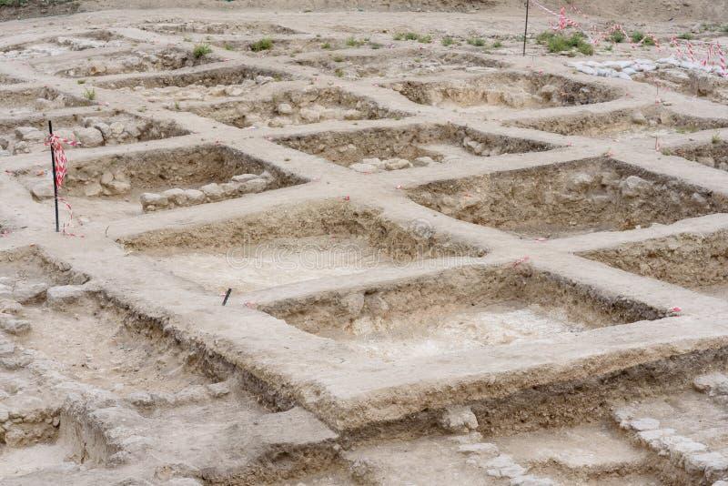 考古学挖掘站点 免版税库存照片