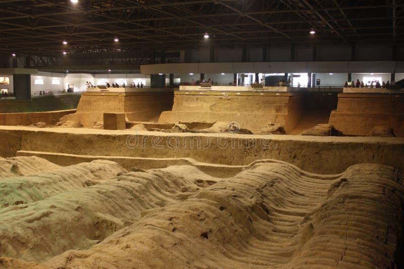 考古学瓷博物馆赤土陶器战士 免版税库存照片