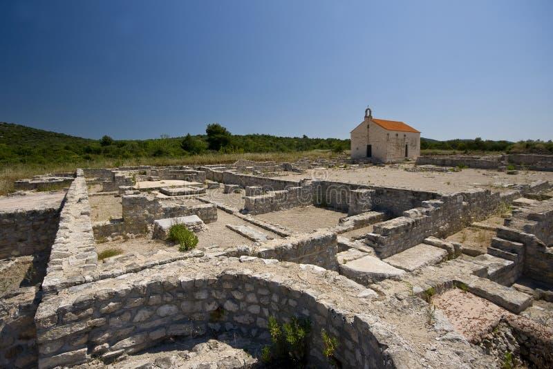 考古学罗马站点 免版税库存照片