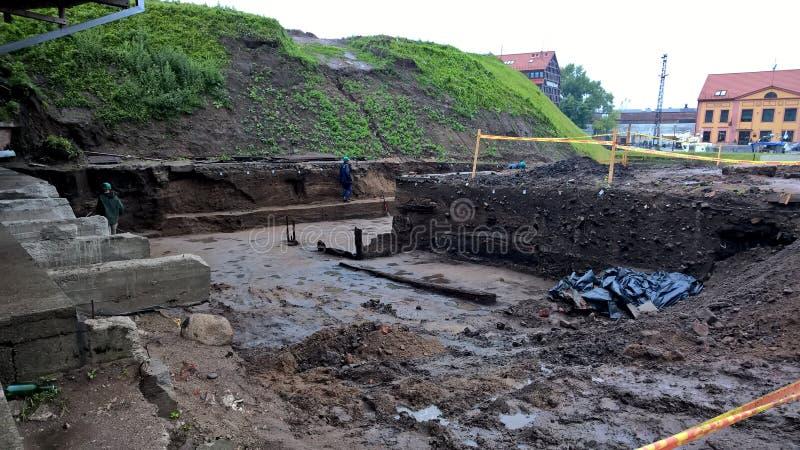 考古学野外工事 免版税库存照片